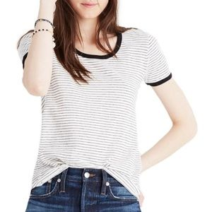 Madewell Striped Recycled Cotton Ringer Tee